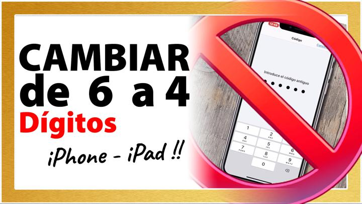 Cómo cambiar CODIGO de 6 a 4 DIGITOS iphone 2020 - Cambiar contraseña iphone 6 a 4 digitos